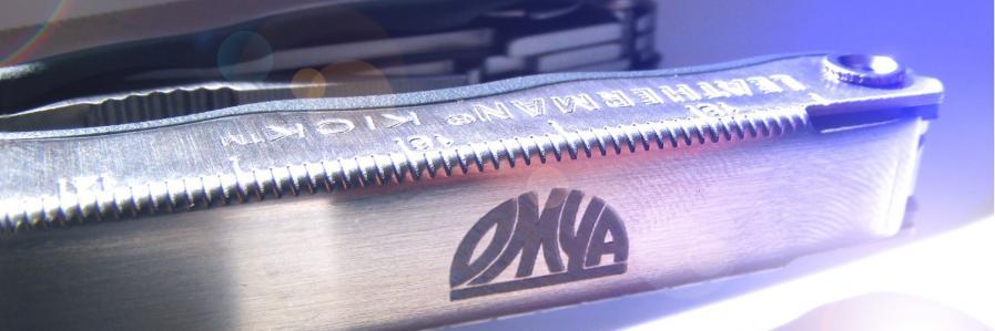 Werkzeug mit laserbeschriftetem Griff