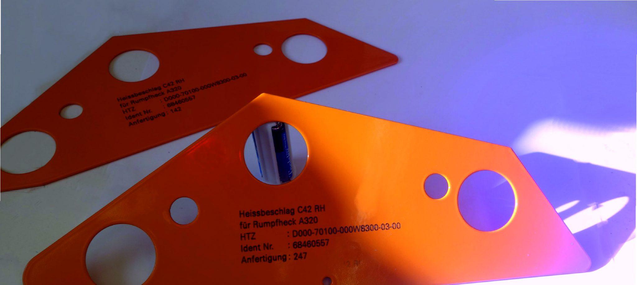 Laserbeschriftung auf Pulverbeschichtung